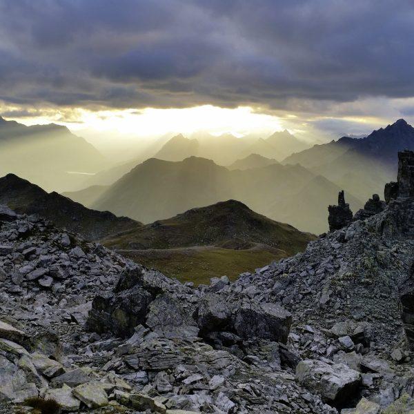026 Sonnenaufgang am Kuchenberg in der Silvretta